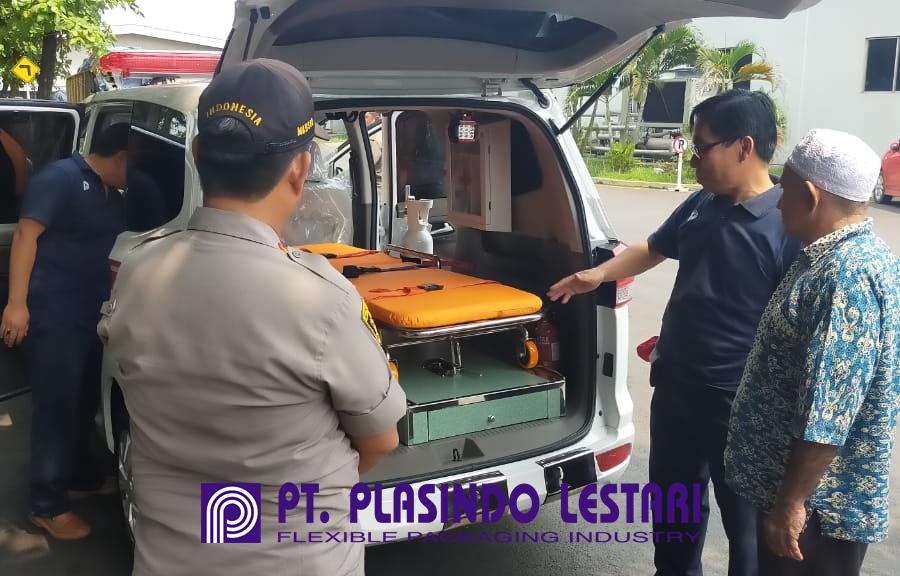 ambulance donation plasindo lestari flexible packaging indonesia